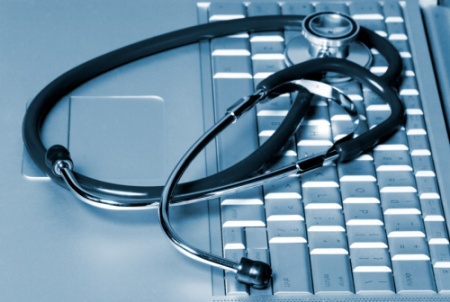 stethoscope and keyboard image