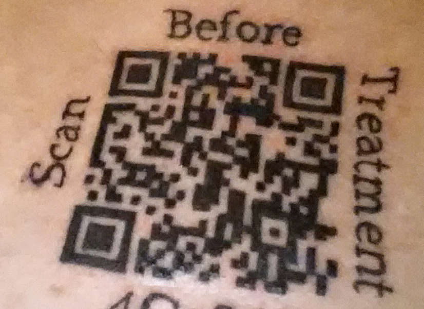 Why I got a QR code tattooed on my sternum